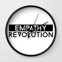 Empathy Revolution Wall Clock