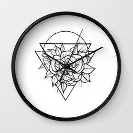 Crown Of Thorns - B&W Wall Clock