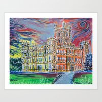 downton abbey Art Prints featuring Downton Abbey by Laura Hol Art