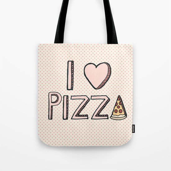 I Love Pizza Tote Bag