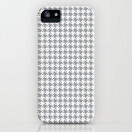 PreppyPatterns™ - Modern Houndstooth - Silver Gray and White iPhone Case
