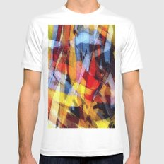 abstrakt 53 color Mens Fitted Tee MEDIUM White