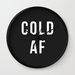 Cold AF Wall Clock
