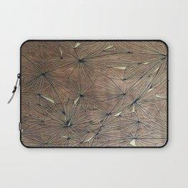 Stare Geometric Fractals on Wood Laptop Sleeve