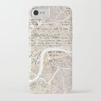london map iPhone & iPod Cases featuring London map by Mapsland