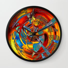 Gasworks Abstract Wall Clock
