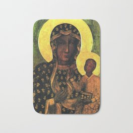 Virgin Mary Our Lady of Czestochowa Madonna and Child Jesus Religion Christmas Gift Bath Mat