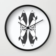 foxy reflected Wall Clock
