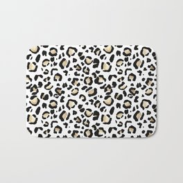 Leopard Animal Print Watercolour Painting Bath Mat