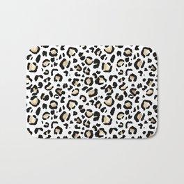 Leopard Animal Print Watercolour Painting Bath Mat