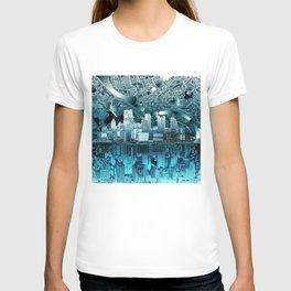 pittsburgh city skyline T-shirt