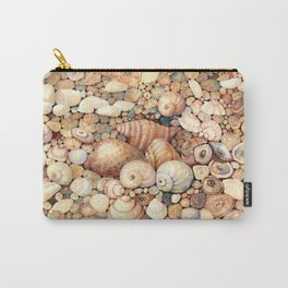 Shells on Sand Carry-All Pouch