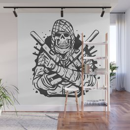 Military skull with guns Wall Mural