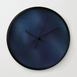 Mostly Midnight Subtle Dark Abstract Wall Clock