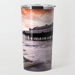 High tide at the Pier Travel Mug