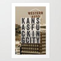kansasfuckingcity 4 Art Print