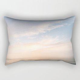 Waves at Sunset off the Oregon Coast Rectangular Pillow