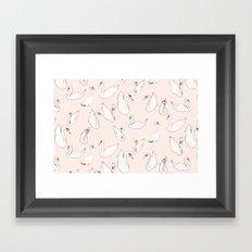 Swam lake Framed Art Print