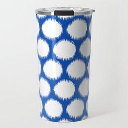 Sapphire Asian Moods Ikat Dots Travel Mug