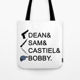 Supernatural Names Tote Bag