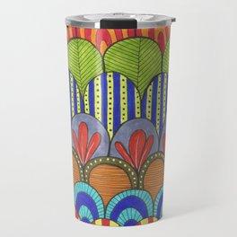 bright scalloped pattern Travel Mug