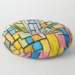 Piet Mondrian Tableau III Floor Pillow