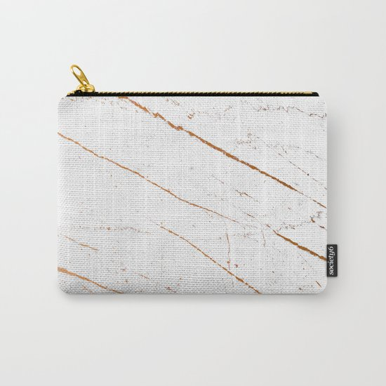 Rose Gold Marble #society6 #decor #buyart Carry-All Pouch