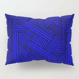 Sketchy Abstract (Black & Blue Pattern) Pillow Sham