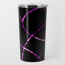 Jagged leaves, purple Travel Mug