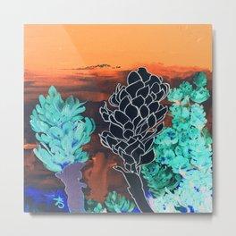DESERT NIGHT Alpinia Purpurata Metal Print