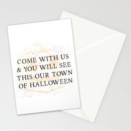 Our Town of Halloween Stationery Cards
