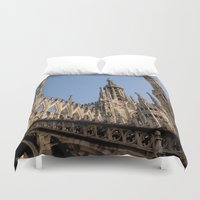 milan Duvet Covers featuring Milan by Alan Wong