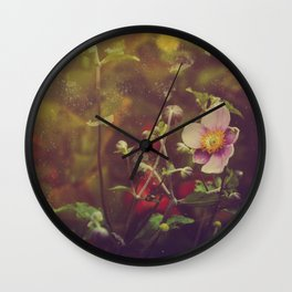 Textured Anemone (Cool Colors) Wall Clock