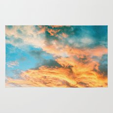 Blue Sunset Clouds  Rug