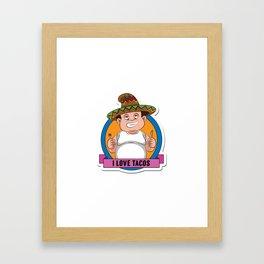 I love tacos Framed Art Print