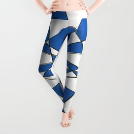 Geometric Classic Blue Leggings