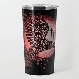 Vikings crow of death - RED Travel Mug