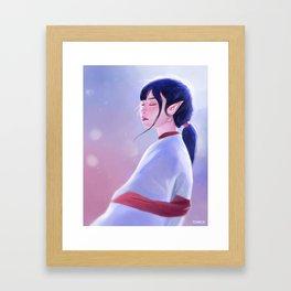 Glowing Elf Lady Framed Art Print