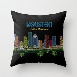 Houston Better Than Ever Circuit Throw Pillow