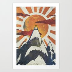 Mount Spitfire Art Print