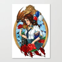 bioshock Canvas Prints featuring BioShock Infinite by Little Lost Forest