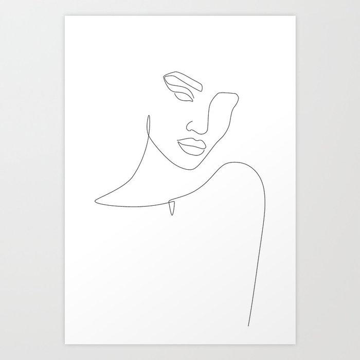 Flirty Look Art Print