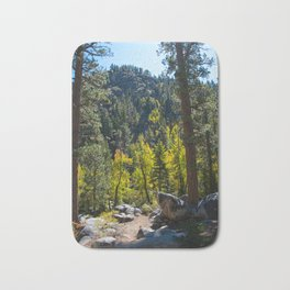 Sierra Mountain trail Bath Mat