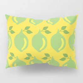 Limes in a row on a yellow background Pillow Sham