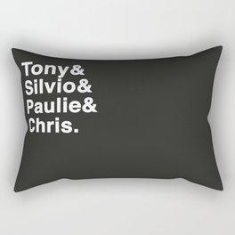 Tony & Silvio & Paulie & Chris. Rectangular Pillow