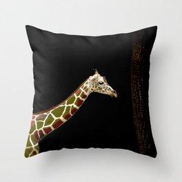 Strolling Giraffe Throw Pillow