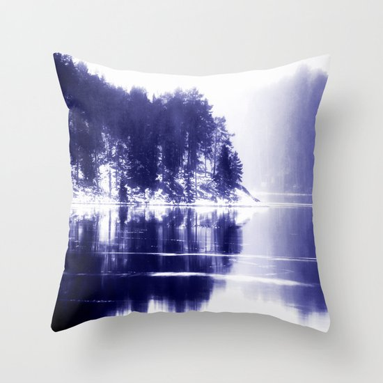 Painted scene Throw Pillow