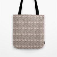 reassurance Tote Bags featuring Wood print II by Magdalena Hristova