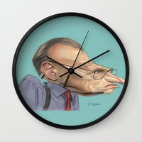 larry Wall Clocks featuring Larry King by Patrick Dea