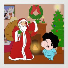 Santa Claus came to town! Canvas Print